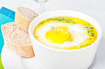 Spinach baked egg