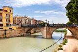 Puente Viejo über Rio Segura in Murcia, Spanien poster