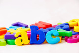 Abc: background image of magnetic alphabet letters