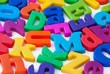Background image of magnetic alphabet letters