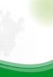 grüner rahmen mit Pinselstrich Vektor