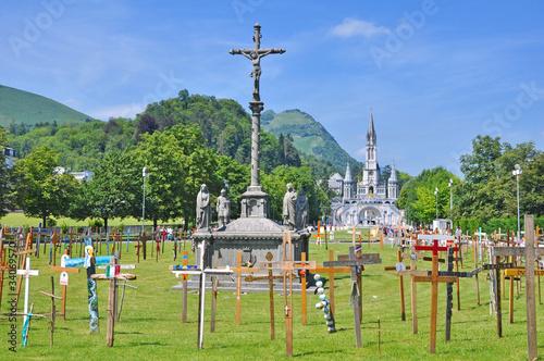 le sanctuaire de Lourdes Poster