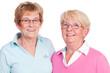 glückliche seniorinnen