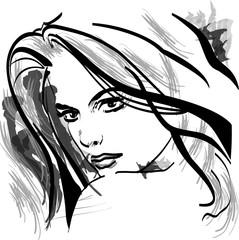 vektörel kadın yüzü