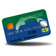 Credit card with dolphin silhouette