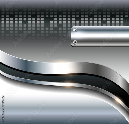 Abstract background metallic grey.