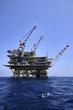 Italy, Sicily, Mediterranean Sea, offshore oil platform