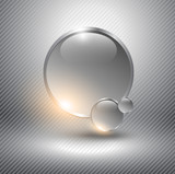 Abstract background with glass spheres.