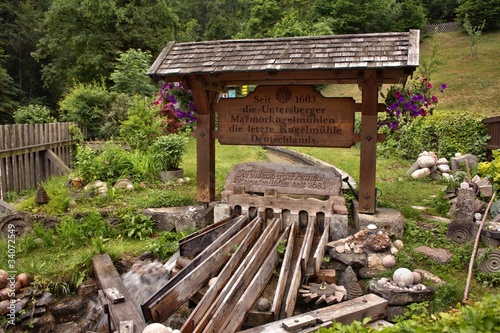 Kugelmühle an der Almbachklamm