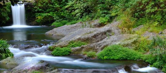 Cascade en aval de la rivière Langevin, La Réunion.