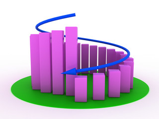 Business spiral of economic decline of the pink boxes №3