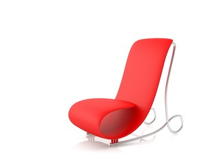 Futuristic armchair isolated on white background