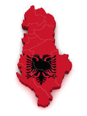 3D Map of Albania