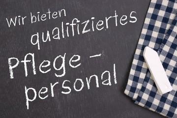 Qualifiziertes Pflegepersonal
