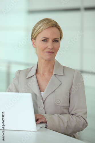 Blond office worker