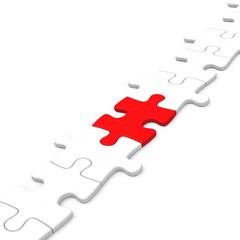 Das rote Puzzleteil
