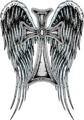 angel cross design