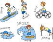 Постер, плакат: мультфильм спорта значок