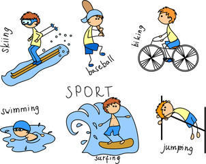 мультфильм спорта значок