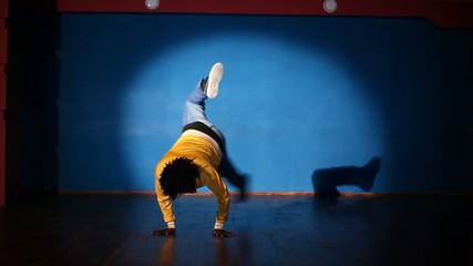 African American man dancing hip-hop