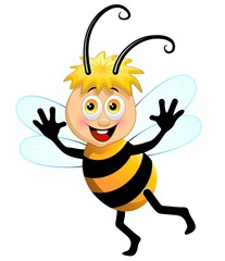 Ape Cartoon-Cute Cartoon Bee-Vector