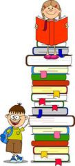 Векторные иллюстрации студентов и книги