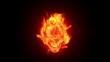 Fire skull, HD loop