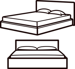 simple illustration with beds