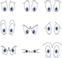 expression des yeux