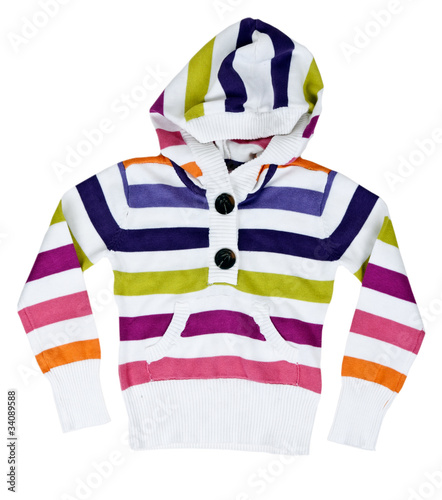 children's striped sweater with a hood