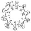 Kinderkreis, Ausmalbild