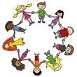 Kinderkreis, bunt