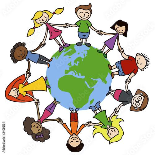 Kinderkreis, Erde, bunt