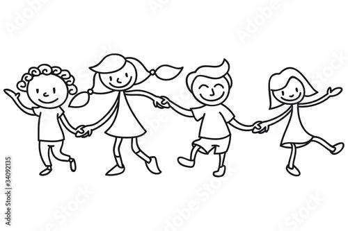 Gamesageddon Kinder Freundschaft Ausmalbild Lizenzfreie Fotos