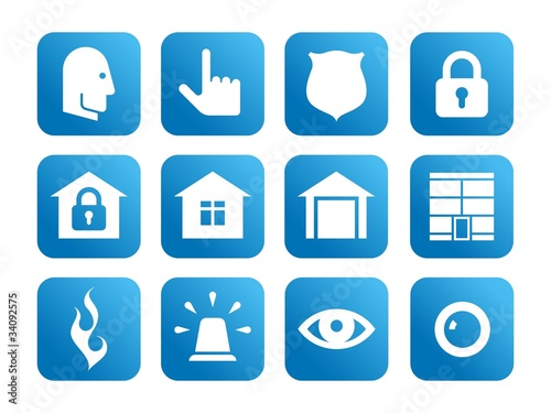 "Icon set on the ""Security Activity"" theme"