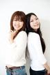 a portrait of beautiful asian women