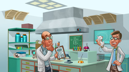 doctors in the lab