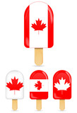 classic canada flag ice cream bar or ice pop isolated on white
