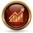 Erfolg - Diagramm - Button gold rot