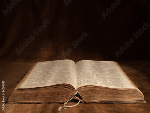 Opened Bible with copy-space