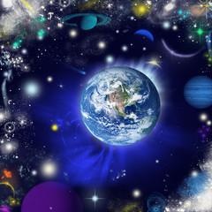 la terra nell'universo