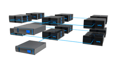 Server con VPS (virtual private server)