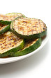 Grilled zucchini on а plate