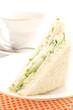 The triangular sandwich with cucumber