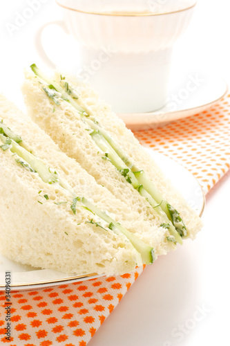 Sandwich with cucumber