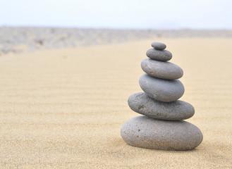 Terapia con piedras volcanicas.