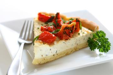 Tomato, Basil and Goat Cheese Tart