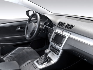 A studio shot of a modern car interior.
