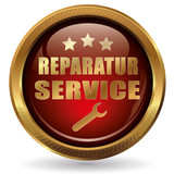 Reparatur-Service - Button gold rot