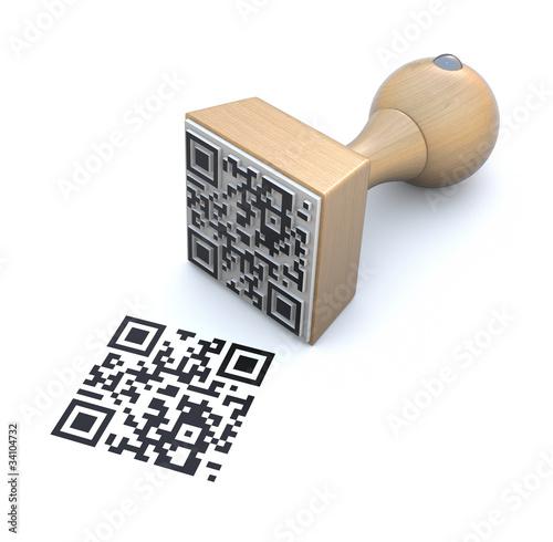 QR rubber stamp